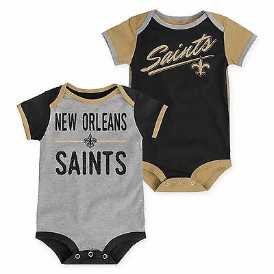 New Orleans Saints Baby 2 Piece Onesies - Descendant (FREE SHIPPING) 0-3 months