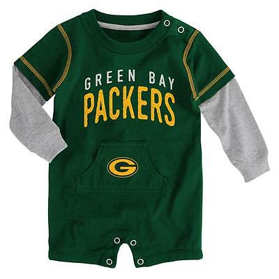 Green Bay Packers Baby Foundation Pocket Romper (FREE SHIPPING) 3-6 months