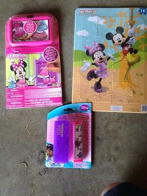 Disney Junior Pack:Mickey Clubhouse Puzzle, Doc Mcstuffins Harmonica, Minnie Bow