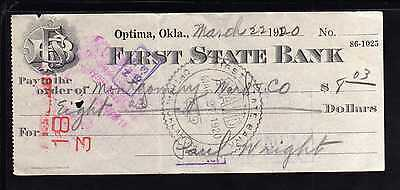1920 First State Bank - Optima, Olklahoma