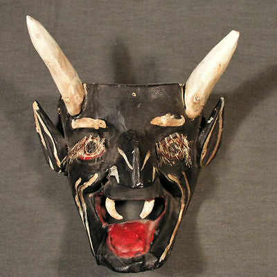 Classic Mexican Devil, Diablo Mask, Michoacan, Old And Used
