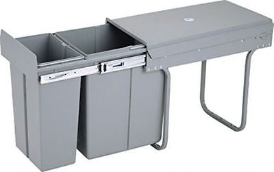 Under Kitchen Cabinet Double Pull Out Trash Can With Lid, 30 L / 8 Gal - NEW
