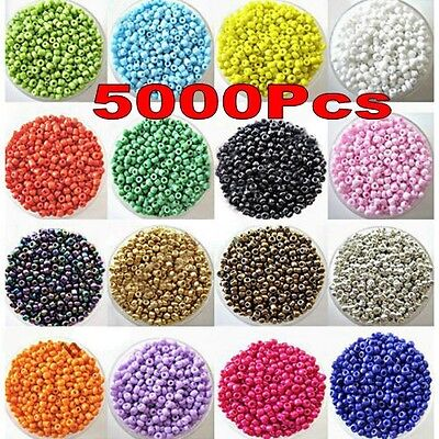 Lots 5000Pcs Opaque Glass Seed Beads Jewelry Finding DIY Craft 2MM U Pick Color