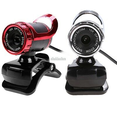 New USB HD Webcam 10X Optical Zoom Web Cam Camera with MIC for PC Laptop EFFU
