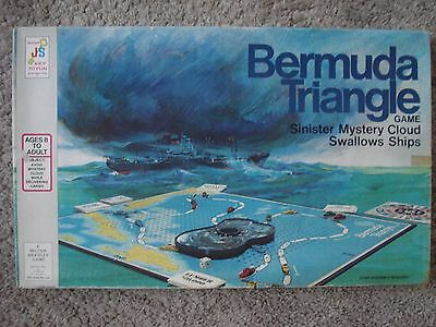 Vintage Board Game - Bermuda Triangle by MB and JS