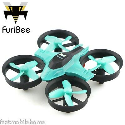 FuriBee F36 RC Quadcopter Mini 2.4GHz 4CH 6 Axis Gyro Headless Mode LED Cyan New