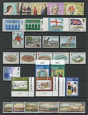 Guernsey 1984-85 Lovely Collection Of 10 Commemorative Sets & 2 Sheets *vf Mnh*
