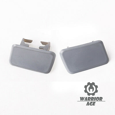 Pair Left Right Headlight Washer Nozzle Primed Caps Covers for BMW X3 E83 04-10