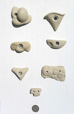 Rock Climbing Holds, New, 7 Sandstone Set, Made By X-Es Climbing Holds.