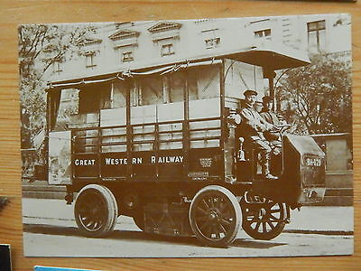 Postcard Gwr Early Freight -Electric Delivery Van -Paddington, London