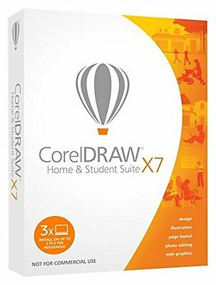 Corel CorelDRAW Home and Student Suite X7 -3Users Graphic Design Software ✔new✔