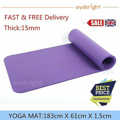 Yoga Exercise Fitness Workout Mat Physio Pilates Festivals Camping Gym Non Slip