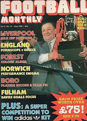 Football Monthly Magazine  Vol 9 N0 10 May 1983