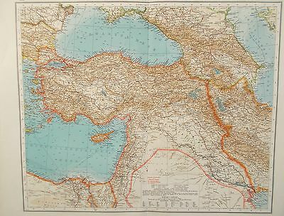 Map of Turkey, Palestine & Mesopotamia. 1900. Andrees MIDDLE EAST. SYRIA.