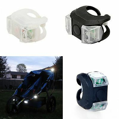 Pram Silicone Baby Stroller Safety Frog Lamp Night Out Bicycle Light
