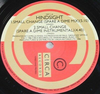 """HINDSIGHT * SMALL CHANGE * Classic Soul Funk Boogie 12"""" Vinyl"""