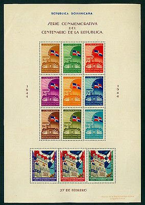DOMINICAN REPUBLIC 1944  Centenary of Independence  BLOCK S/S  Sc# 407  mint MNH