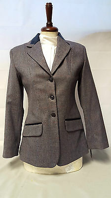 Tagg Maids Angus Navy Tweed Show Jacket sizes 28/30