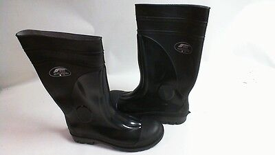 Safety Work Steel Toe Cap Wellington Boots - Black Size 11 ISO 20345 2004 #41A9