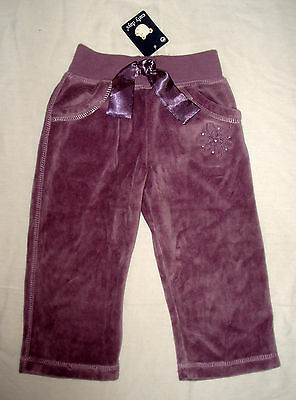 Bnwt New Early Days Soft Purple/plum Velour Pull On Bottoms/trousers - 6-9-12 M
