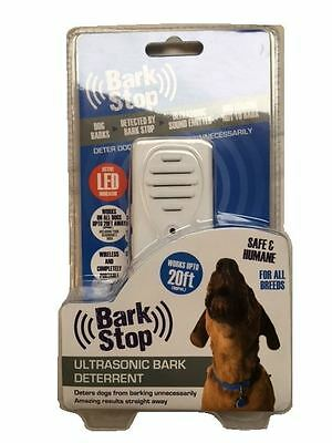 New Dog Bark Deterrent Safe & Humane Wireless Ultrasonic Sound Up to 20ft