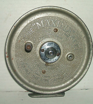 """VINTAGE The """"MAXIMA"""" REEL - CENTRE PIN FISHING REEL"""