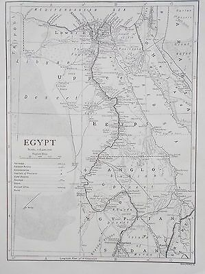 Map of Egypt. 1911. Encyclopedia Britannica. AFRICA.
