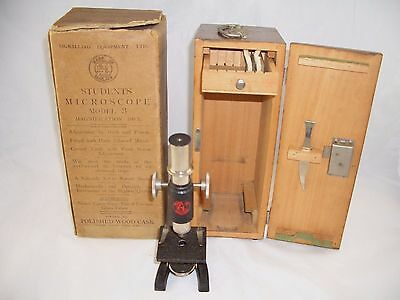 1960's 100x magnification Student Microscope No3 by Signalling Equipment Ltd