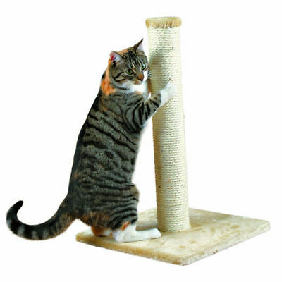Parla Beige Scratching Post 62 cm Cat Scratcher Sharpen Claws Natural Sisal