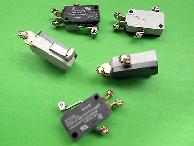 Micro Switch 15A Roller Lever SPDT 250 V V3 SPDT Microswitch TFEFJ6SA1060C x2pcs
