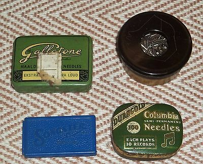 Delightful Group Of 1920/30's Gramophone Needles With Tins/Containers
