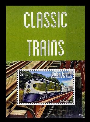 Train, Railways, The Southerner, Union Island MNH SS - R20