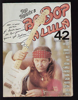 Red Ronnie's Be Bop A Lula 42/1990 Doppio Poster Vasco Rossi Hendrix Billy Idol