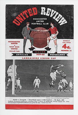 Manchester United V West Ham 1959/60 Fa Cup League England Wales