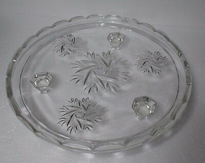 ART DECO 'Comet' Design 'Cake Plate' on Three Feet.  24 cm