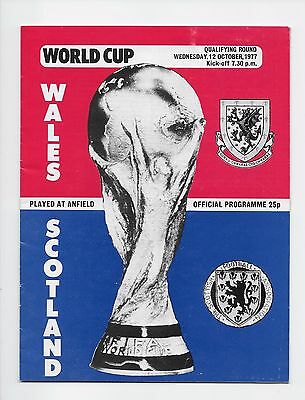 Wales V Scotland 1977 World Fa Cup Qualifier At Liverpool England
