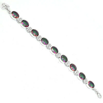 Mystic Topaz Sterling Silver Bracelet Allison Co Jewelry SB-357