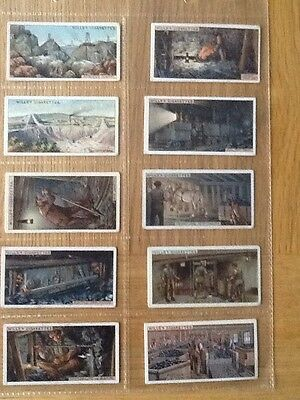 Mining - Set 50 Wills Cigarette Cards - 1916