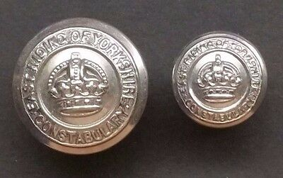 OBSOLETE -  East Riding of Yorkshire Constabulary KC Police Buttons