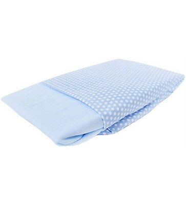 New Izziwotnot jersey cotton fitted moses basket sheets 2 pack in blue 30x74cm
