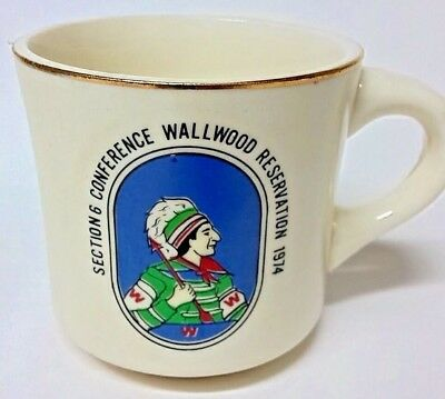 1974 Boyscouts Mug Florida Section 6 Conference Wallwood Reservation Scout Cup 1