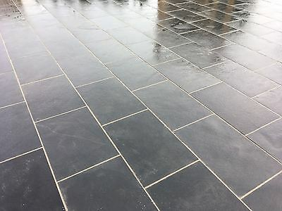 SAWN EDGE Premium Black Limestone Paving Slabs 18.36m2 Patio pack NATURAL STONE