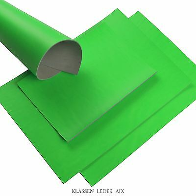 Buffalo leather Neon Green 2,7 mm Thick A3 Format Real Cowhide Croupon Piece 16