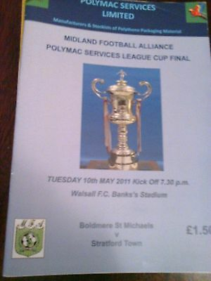 BOLDMERE ST MICHAEL v STRATFORD TOWN  MIDLAND FOOTBALL ALLIANCE  CUP FINAL 2011