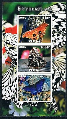 Bloc Sheet Papillons Butterflies  Neuf  MNH  **  Mali 2016 Private local/issue