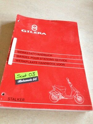 Manuel Atelier revue technique scooter Gilera Stalker 50 service manual