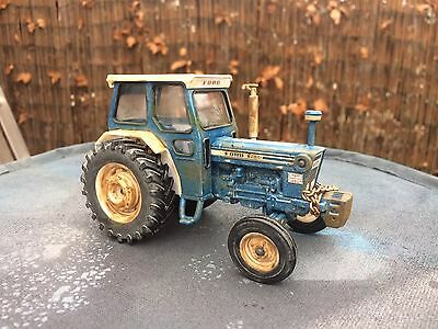 1 Of 1 Back British Farming Ford 7600 Britains 1/32 Conversion Weathered