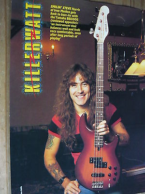 Iron Maiden (Steve Harris) - Magazine Cutting (Full Page Photo) (Ref R6)