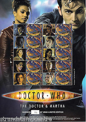 BC-119 - Doctor Who - The Doctor & Martha - Smilers Stamp Sheet