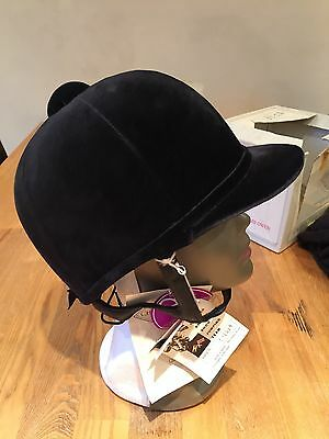 Charles Owen Showjumper BSJA Riding Helmet Blue Size 7 3/8 New Never Been Used